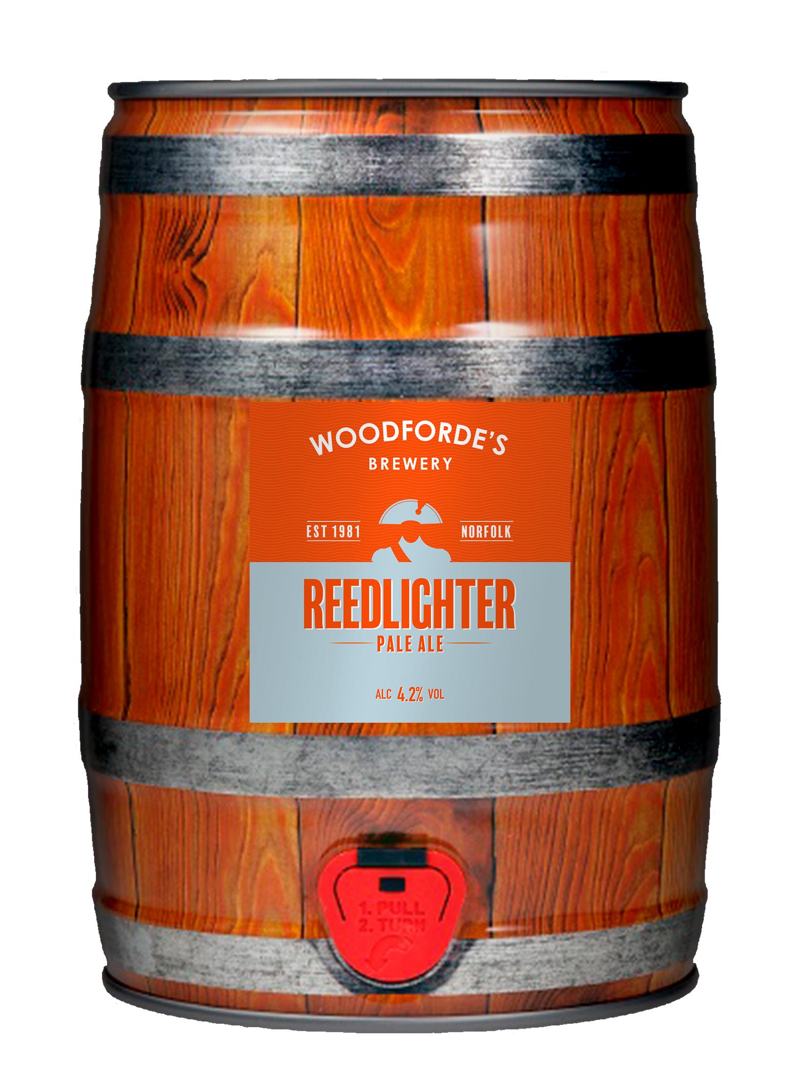Woodforde's Brewery, Redlighter Pale Ale Mini Cask, ú17.99 at www.woodfordes.co.uk copy