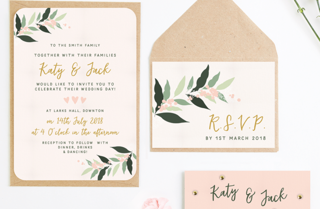 Win handcrafted wedding stationery from norma&dorothy