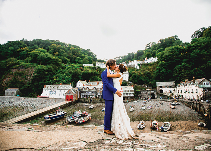 wedding at Clovelly in Devon