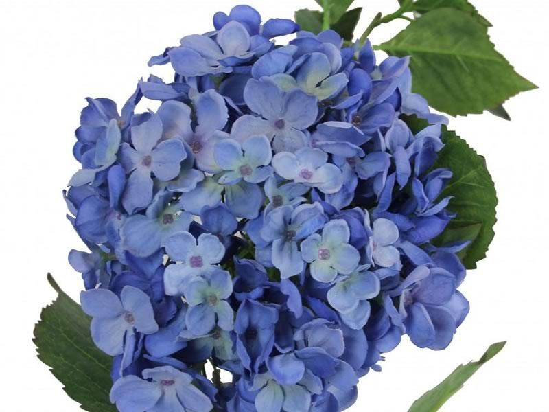 Faux blue hydrangea stems