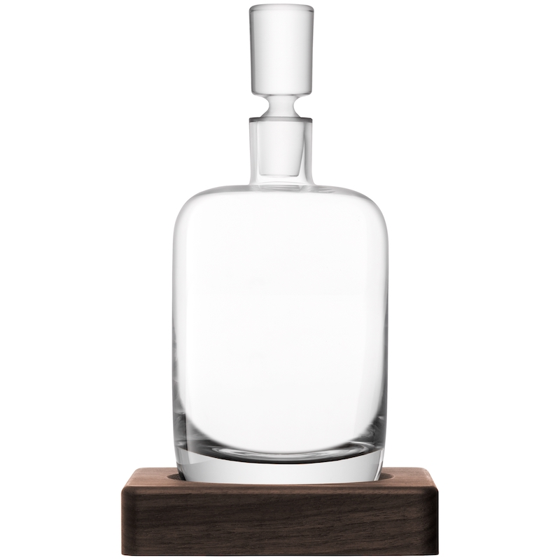 John Lewis LSA International Straight Whisky Decanter with Walnut Base, gifts for booze lovers