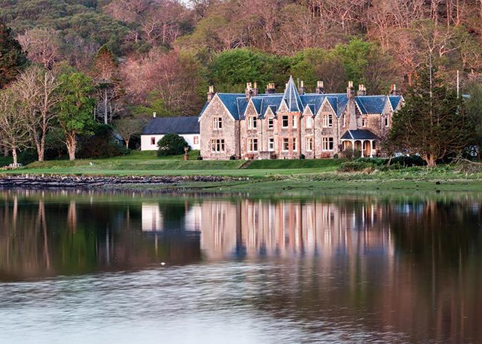 Shieldaig Lodge in the Scottish Highlands