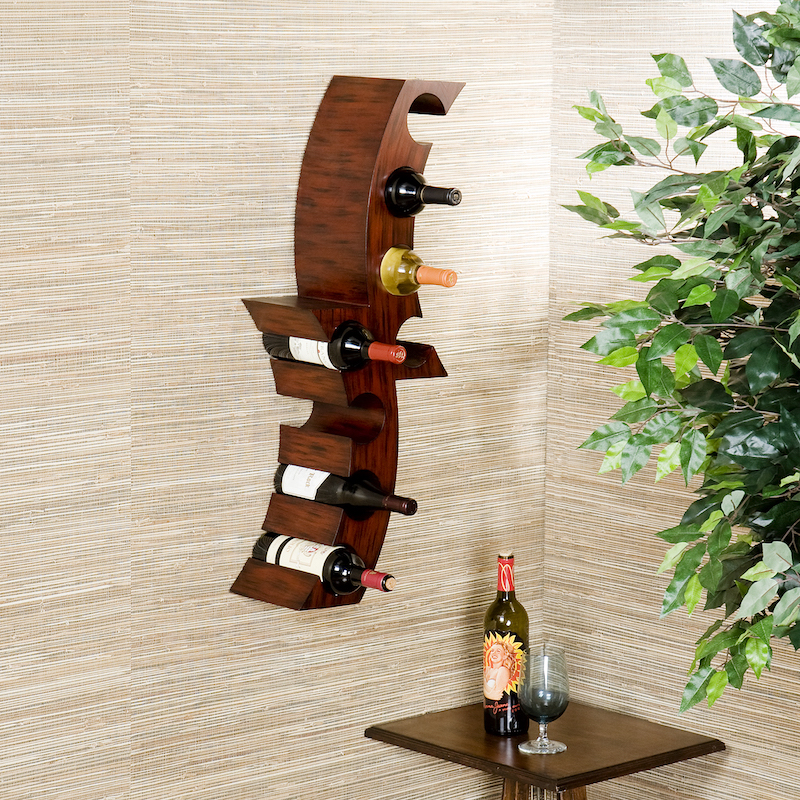 Wall-mounted Home Etc wine rack, gifts for booze lovers