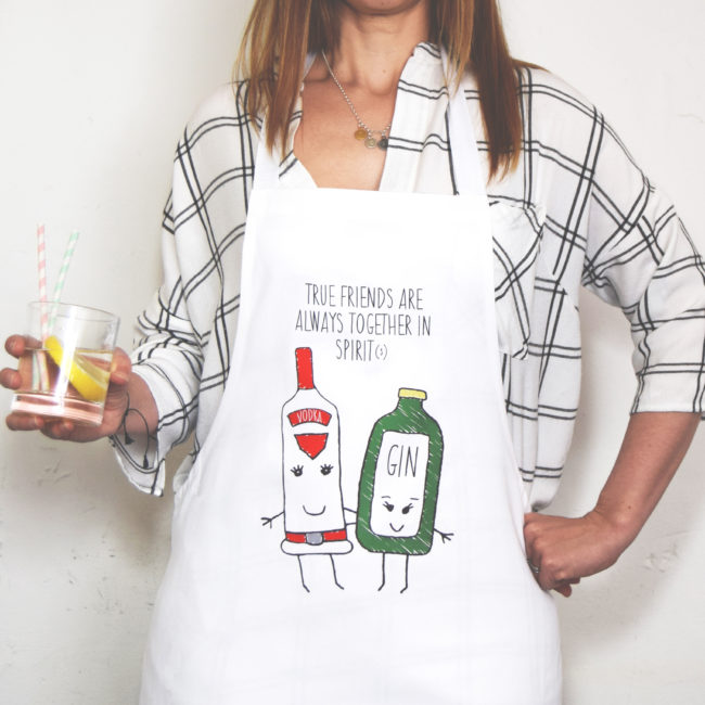 Together in spirit(s) novelty apron, gifts for booze lovers