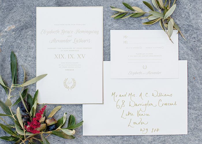Wedding stationery from Ananya Cards