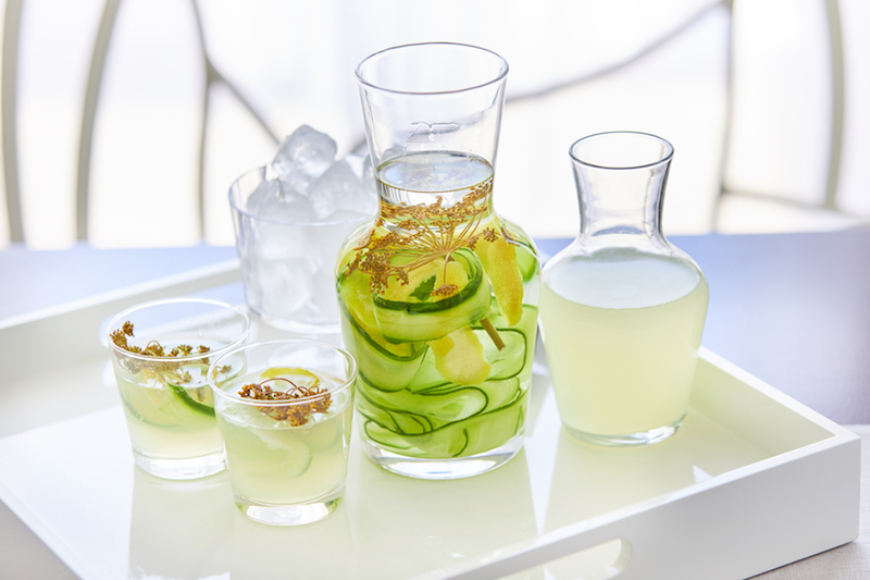 Cucumber Lemon and Fennel Gin summer cocktail recipe