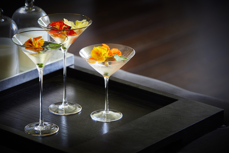 Dirty Nasturium Martini summer cocktail recipe