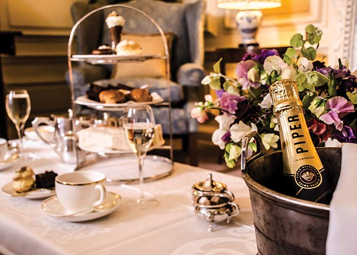 Champagne afternoon tea at Middlethorpe Hall