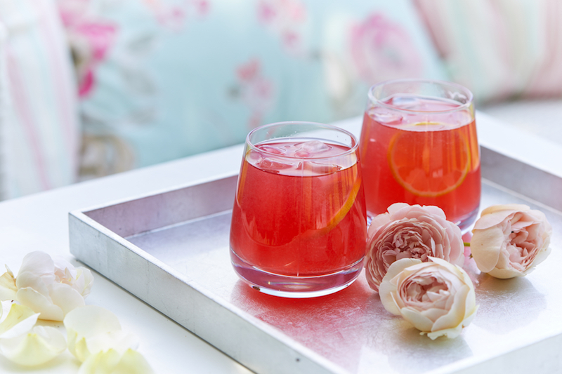 Raspberry and Rose Cooler summer cocktail recipe