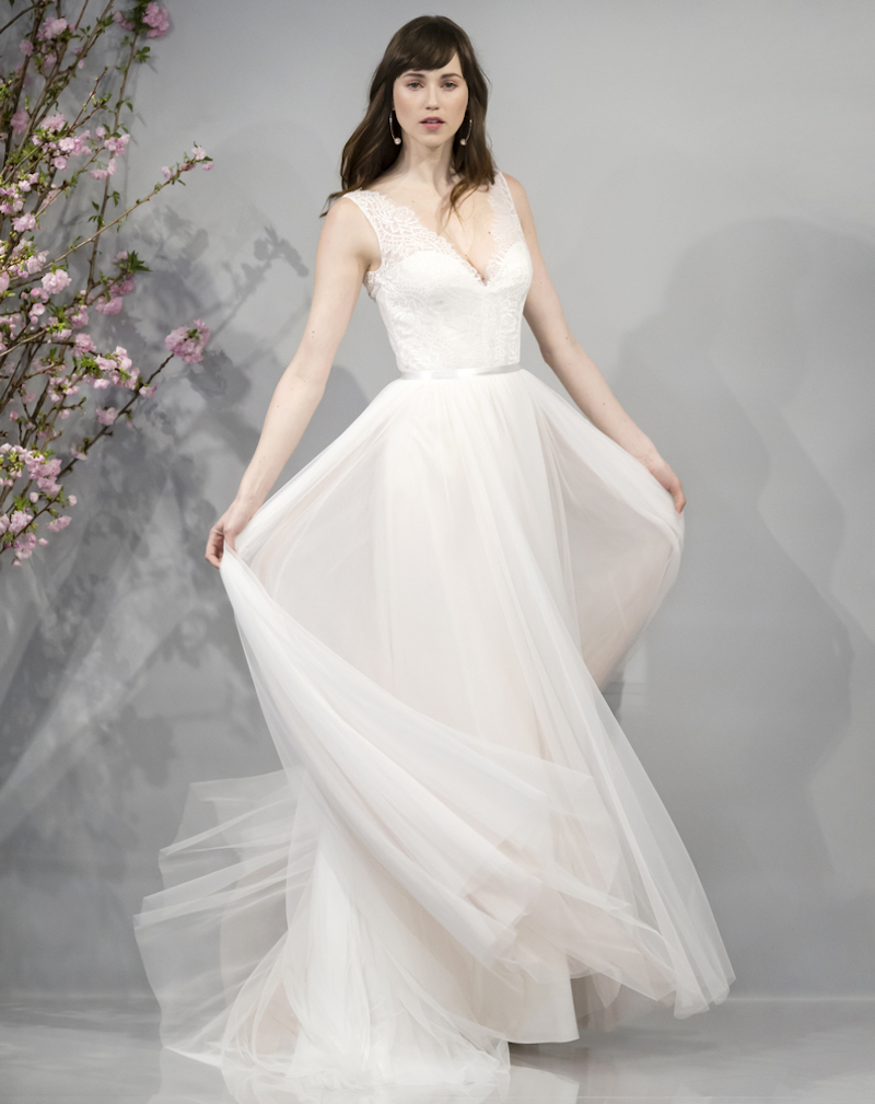 casual floaty wedding dress style