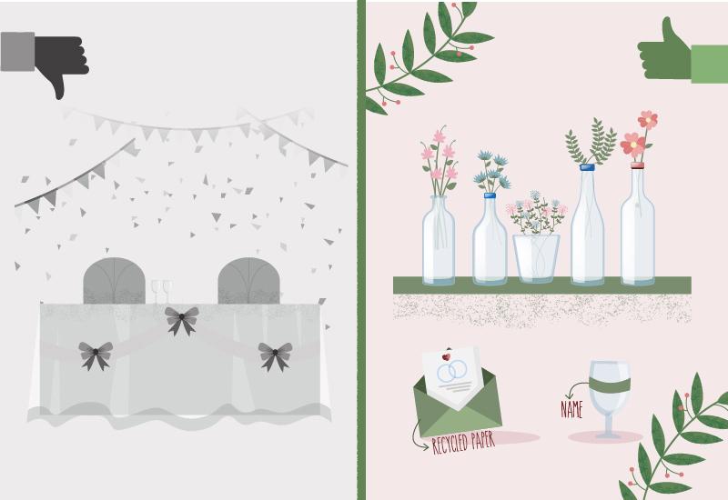 plastic-free wedding decorations
