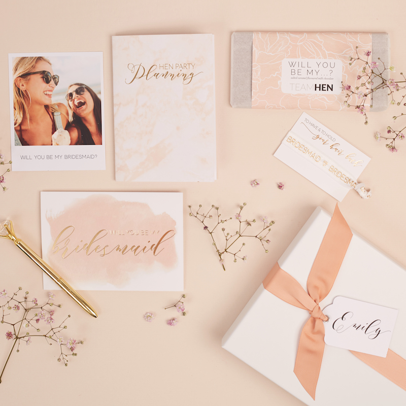 Be My Bridesmaid gift box set