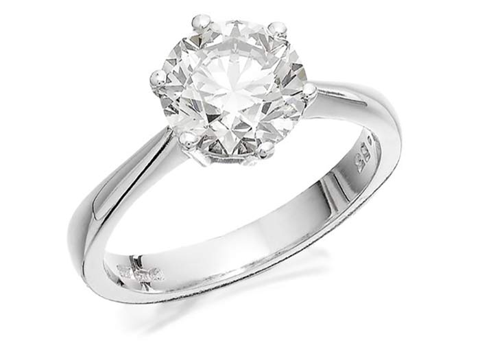 F Hinds solitaire engagement ring