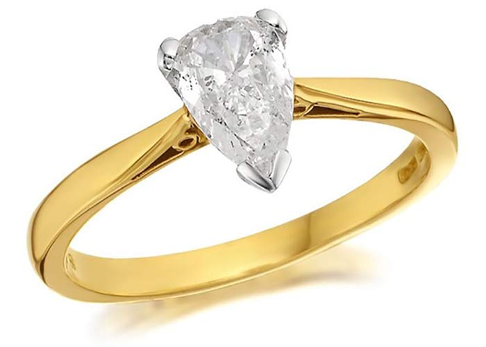 F Hinds unusual shape engagement ring