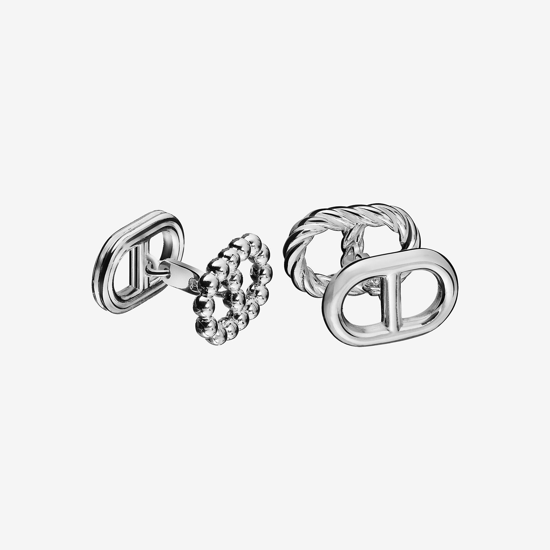 Hermes silver cufflinks