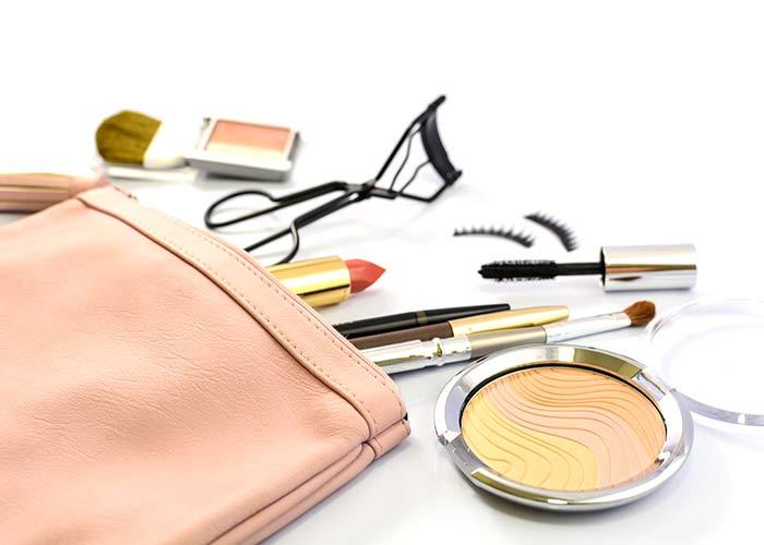 Make-up bag contents