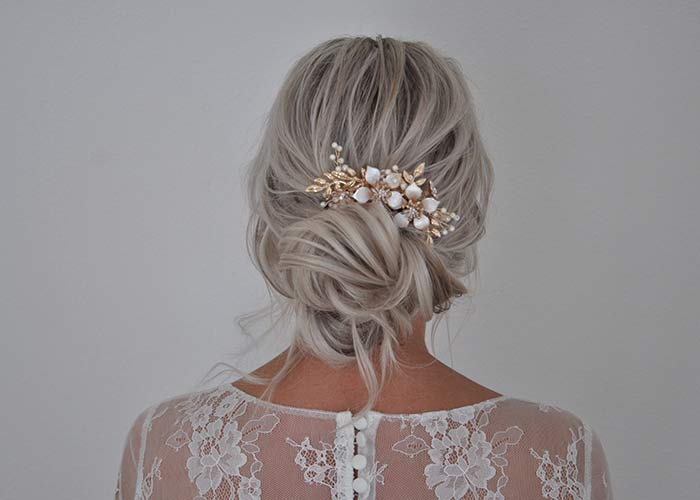 Wedding hair by Nicole Drège