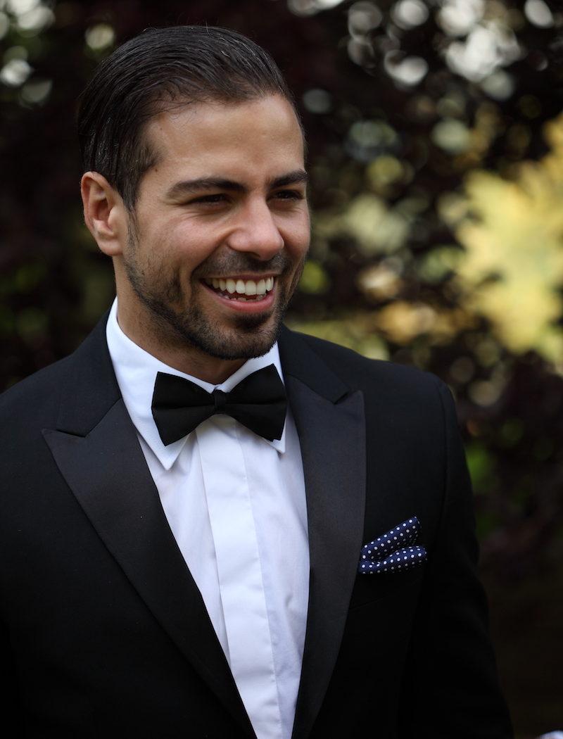 best man suit bow tie