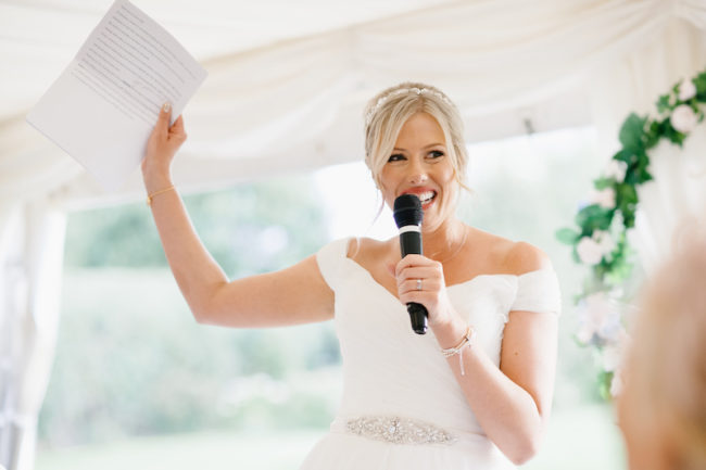 bride-wedding-speech-Who Does Wedding Speeches From the Bridal Party?