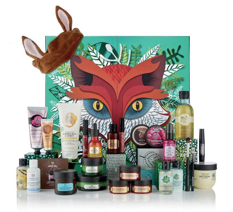 the body shop beauty advent calendar 2018 12 days of christmas