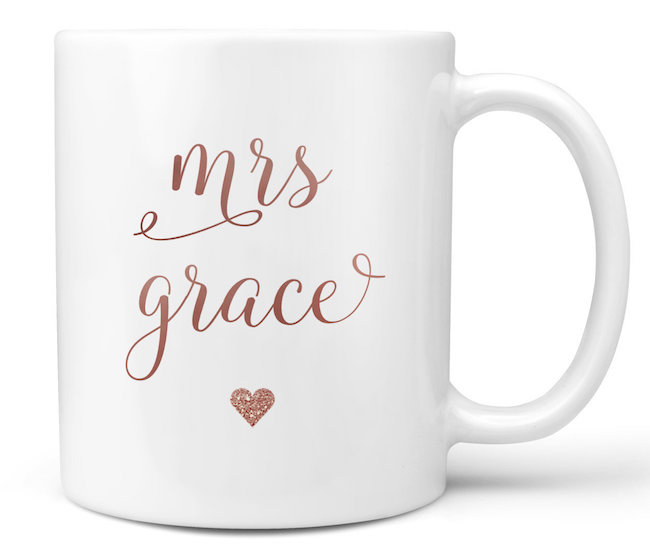 Personalised bride mug