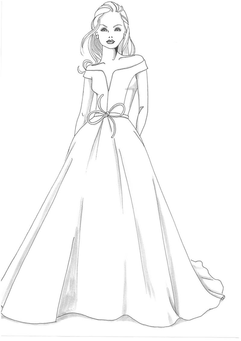 Princess Eugenie wedding dress sketch