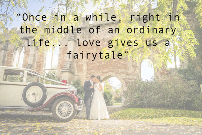 The Most Romantic Quotes for Your Wedding Day love gives us a fairytale