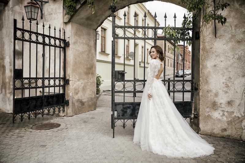 A-line style wedding dress