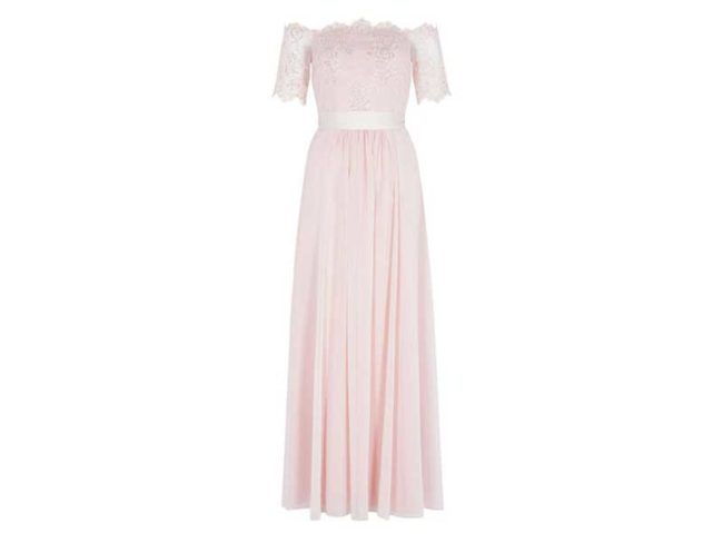 scallop edged pink lace midi bridesmaid dress from coast best bridesmaid dresses