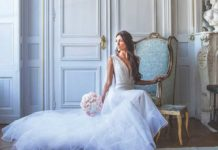 wedding ideas bride of the month bride on seat