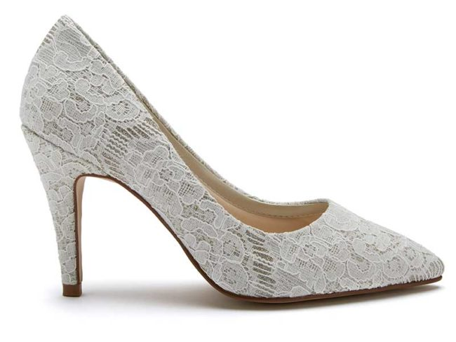 Rainbow Clip lace Giverney wedding heels
