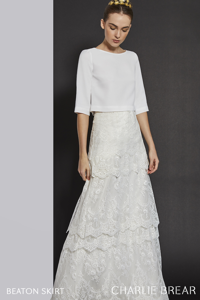 two-piece wedding dress Charlie rarer Beaton
