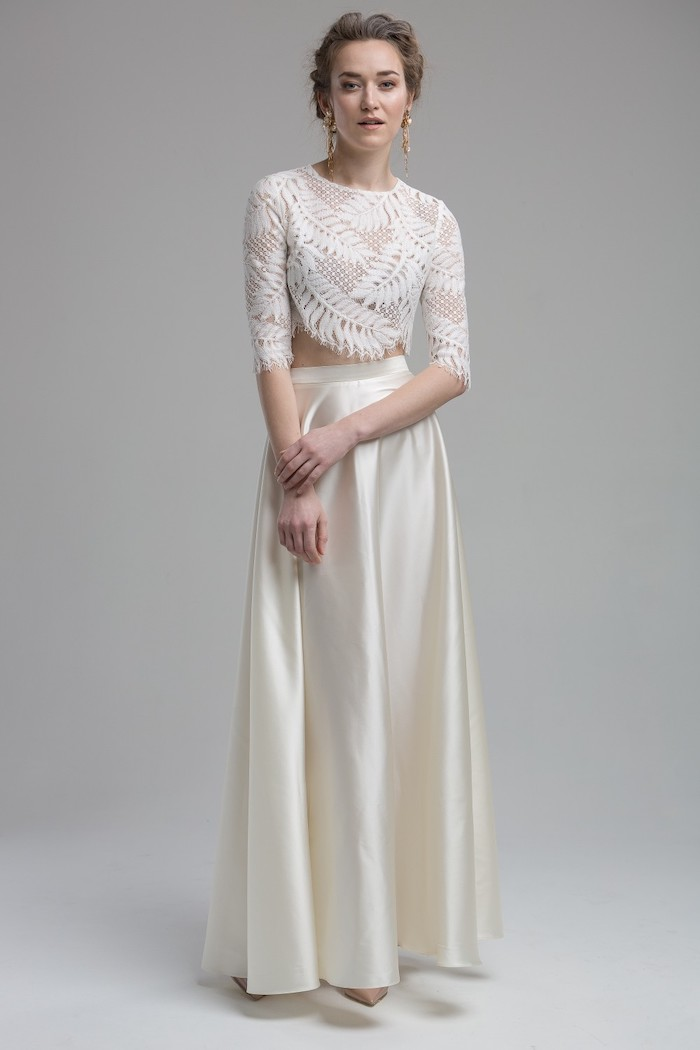 two-piece wedding dress Katya Katya