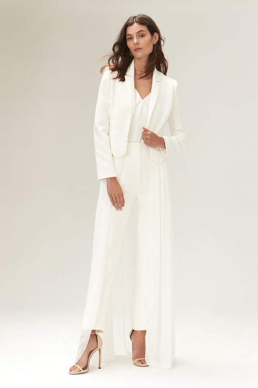 Savannah miller two piece wedding dress jumpsuit