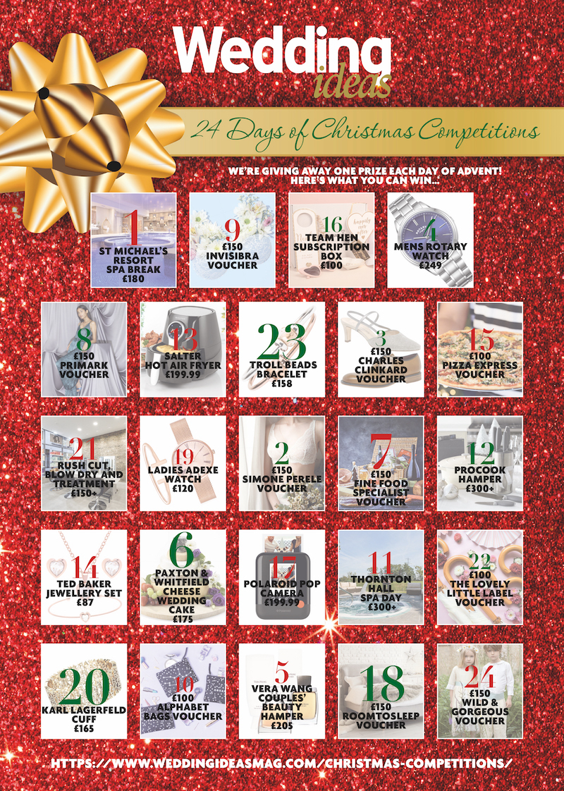 24 Days of Christmas Competitions Wedding ideas Advent Calendar 2018 day 6 december 6