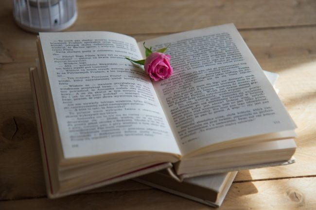 book with rose in middle Wedding Readings: Wedding Reading Ideas for Every Kind of Ceremony