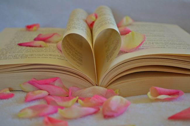 book with rose petals wedding readings traditional and modern wedding reading ideas Wedding Readings: Wedding Reading Ideas for Every Kind of Ceremony