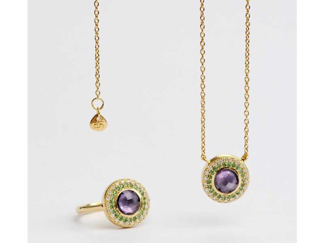 Dinny hall halo pendant suffragette collection last minute Christmas gifts