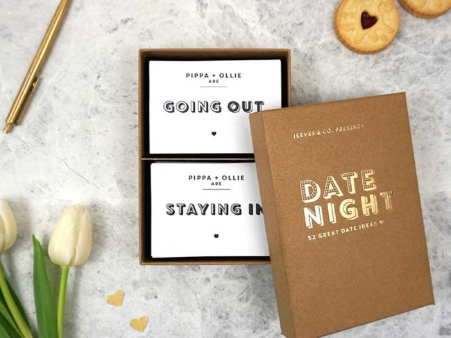 date night cards first anniversary gift paper