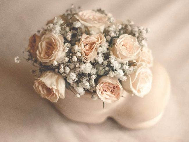 rose and gypsophila bouquet for scented weddings