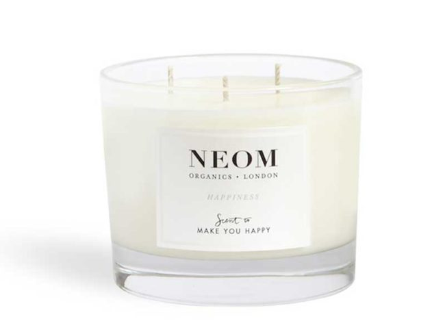 neom happiness candle for scented weddings