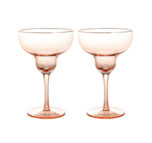 Engagement Gifts for the Newly Engaged Couple Blush Margarita Glasses The Letter Room