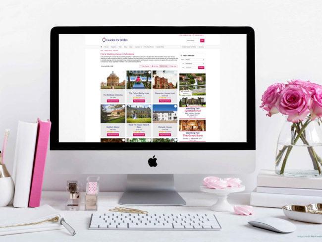 Guides for Brides website lifestyle shot