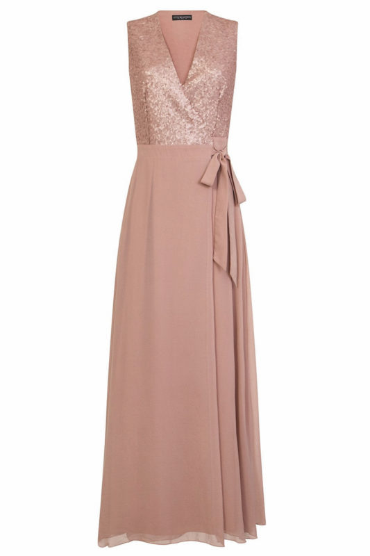 Bridesmaid Dresses Under £100 Little MIstress sequin wrap maxi dress
