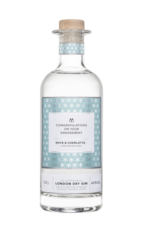 Engagement Gifts for the Newly Engaged Couple Personalised Gin