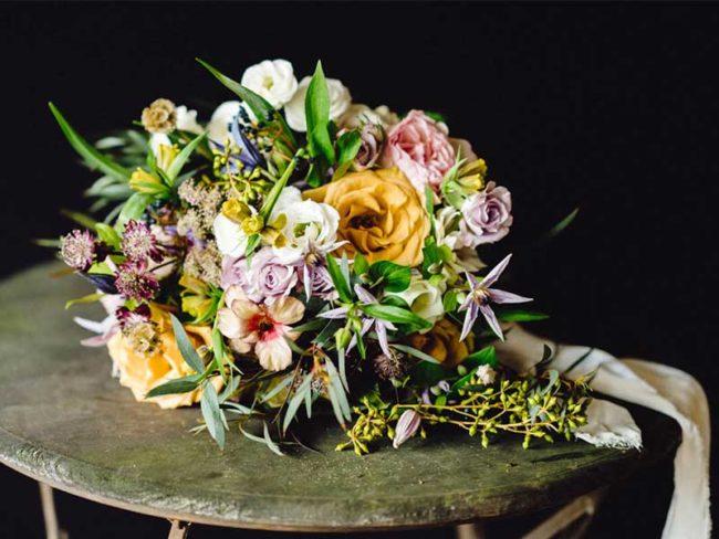 rustic wild flower bouquet rustic wedding flowers