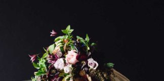 rustic autumn bouquet wedding flowers
