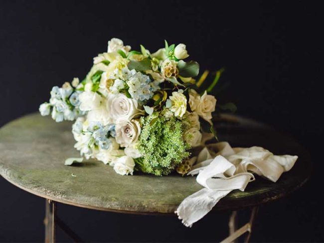 romantic white spring bouquet rustic wedding flowers