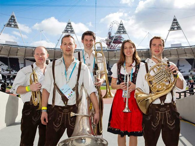 five piece brass band oompah brass - choosing a band for your wedding