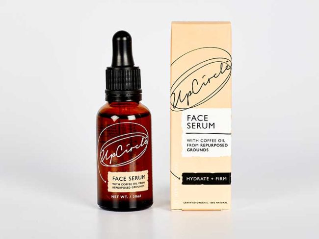 bottle and box of upchircle face serum